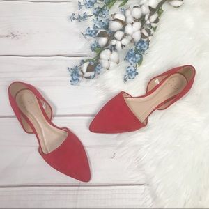 A New Day Red Pointed Statement Ballet Flats